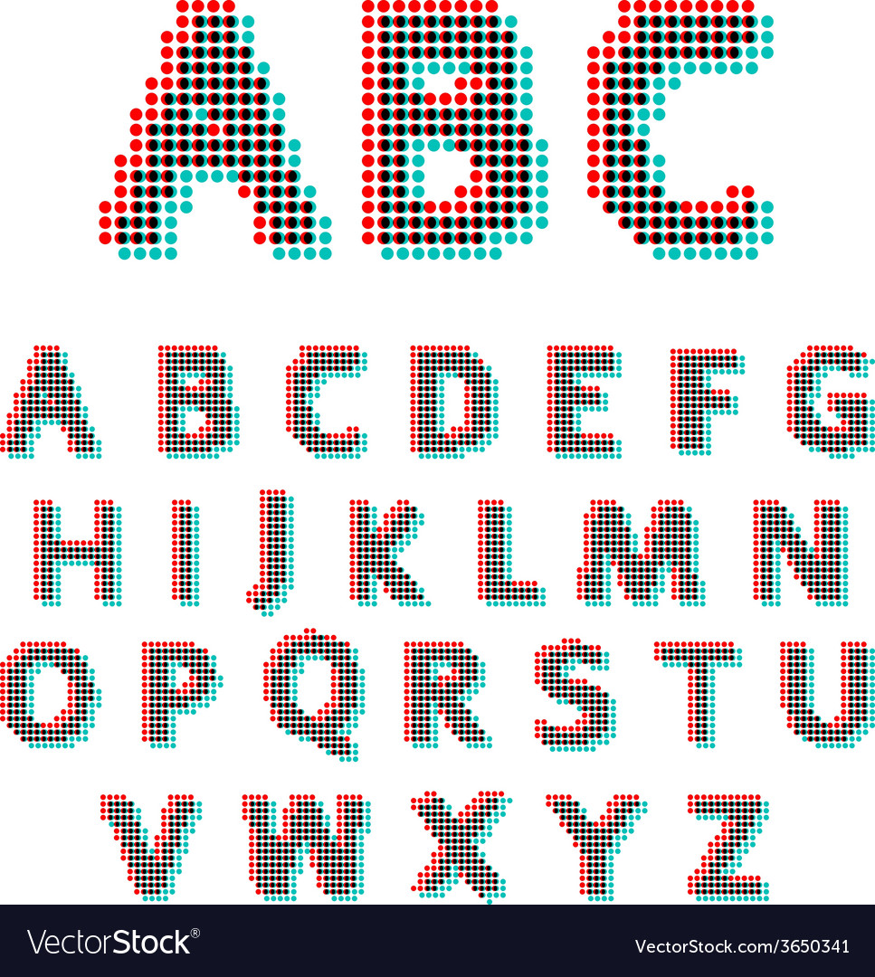 Stereoscopic circles font vector | Price: 1 Credit (USD $1)