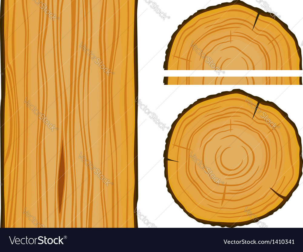 Timber and wood texture with elements vector | Price: 1 Credit (USD $1)