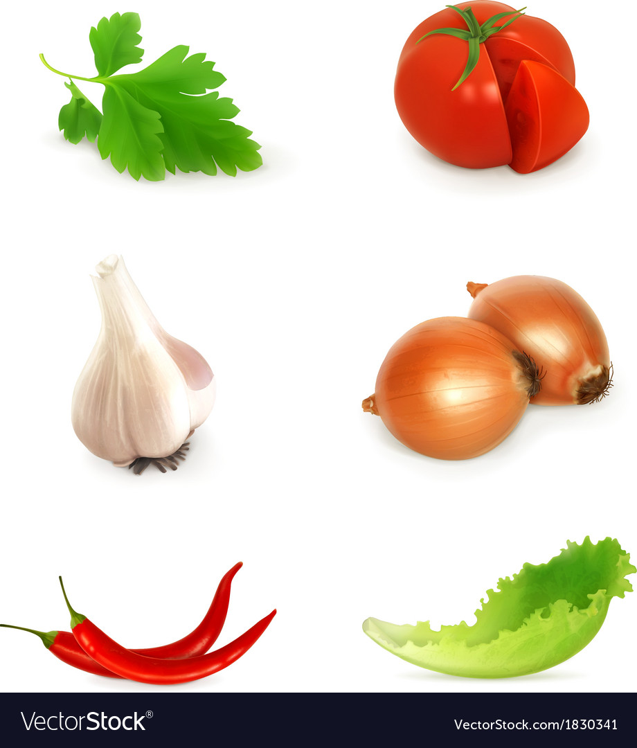 Vegetables set vector | Price: 1 Credit (USD $1)