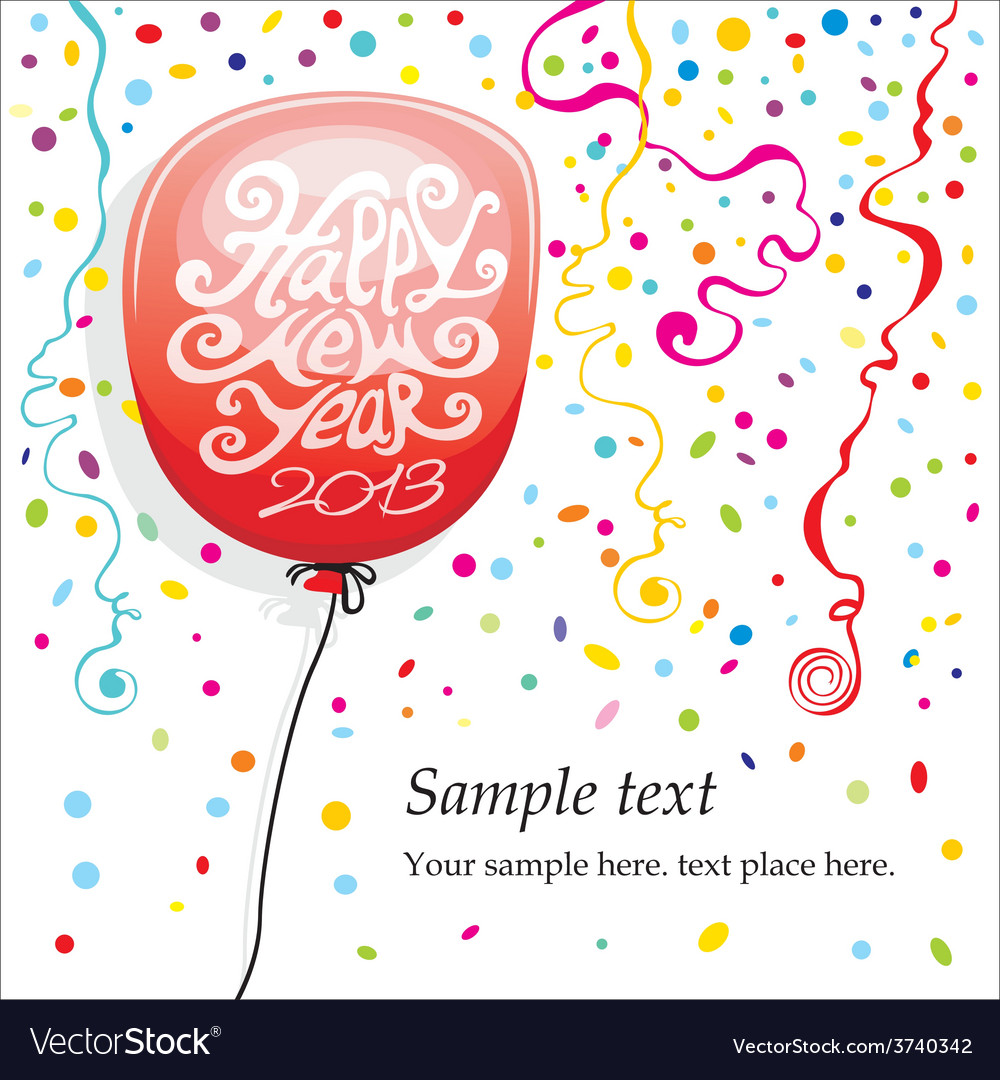 Balloons and confetti vector | Price: 1 Credit (USD $1)