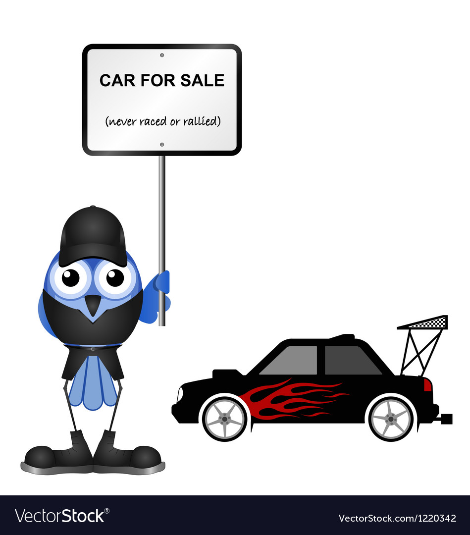 Car for sale vector | Price: 1 Credit (USD $1)