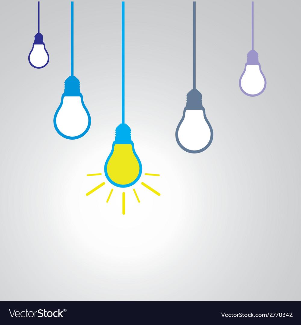 Idea concept with light bulbs vector | Price: 1 Credit (USD $1)