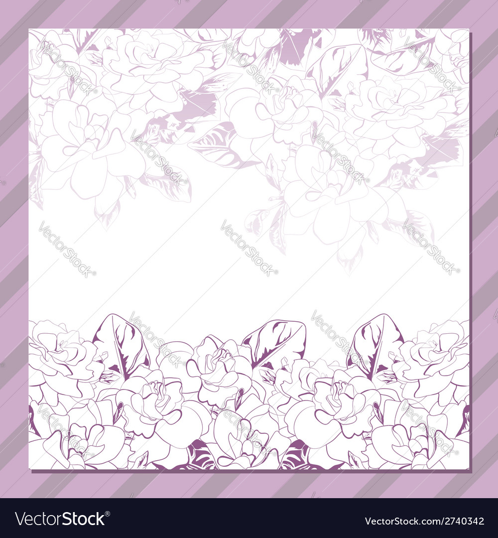 Invitation cards with floral elements vector | Price: 1 Credit (USD $1)