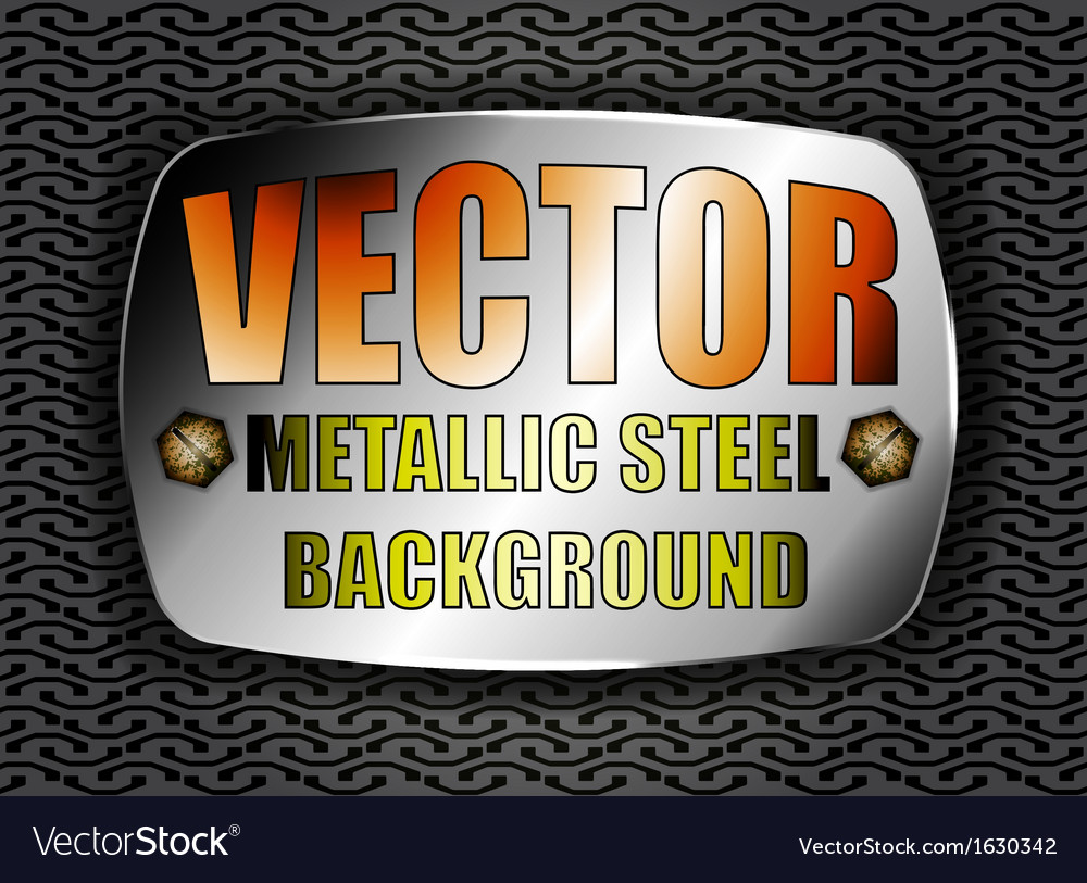 Metallic steel vector | Price: 1 Credit (USD $1)