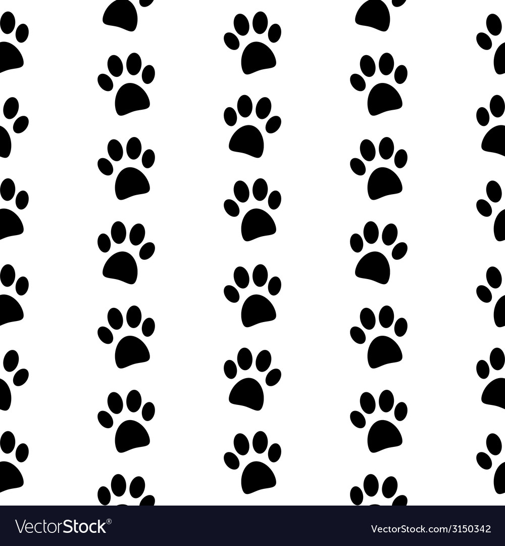 Paw symbol seamless pattern vector | Price: 1 Credit (USD $1)