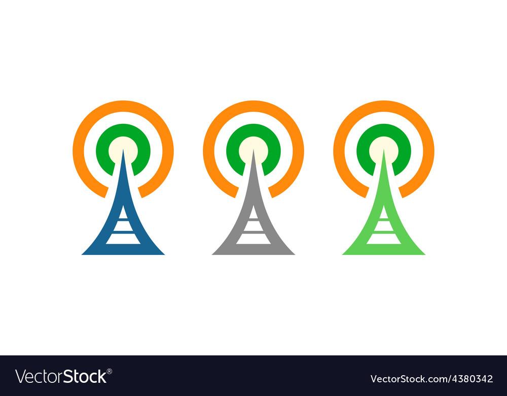Radio towers in ireland vector | Price: 1 Credit (USD $1)