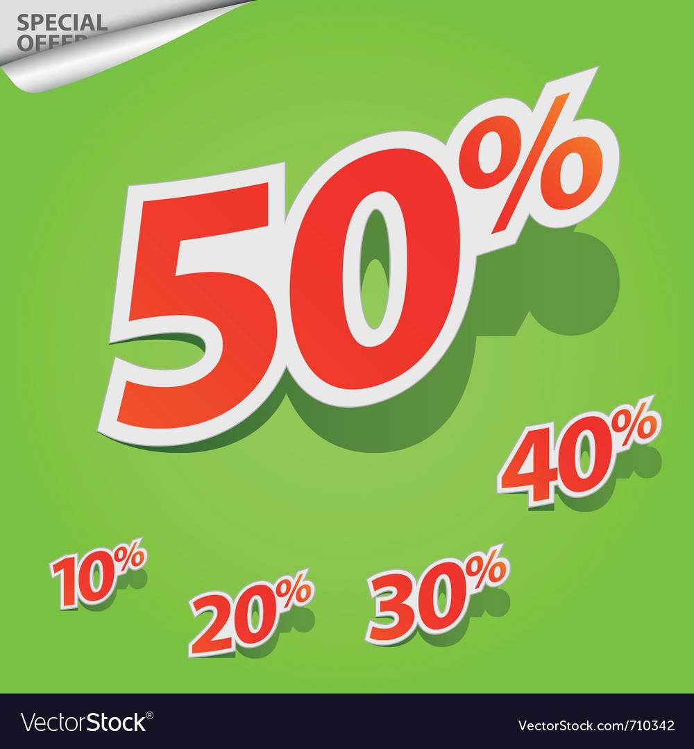 Set of labels percent vector | Price: 1 Credit (USD $1)