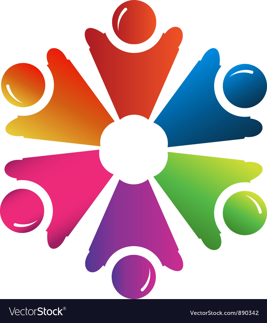 Teamwork people hands up group vector | Price: 1 Credit (USD $1)