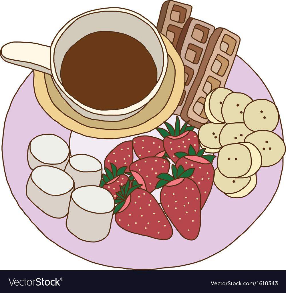 Chocolate fondue vector | Price: 1 Credit (USD $1)
