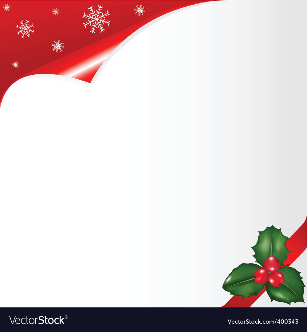 Christmas notepaper vector | Price: 1 Credit (USD $1)