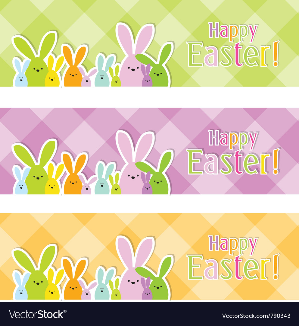Easter web banners vector   Price: 1 Credit (USD $1)