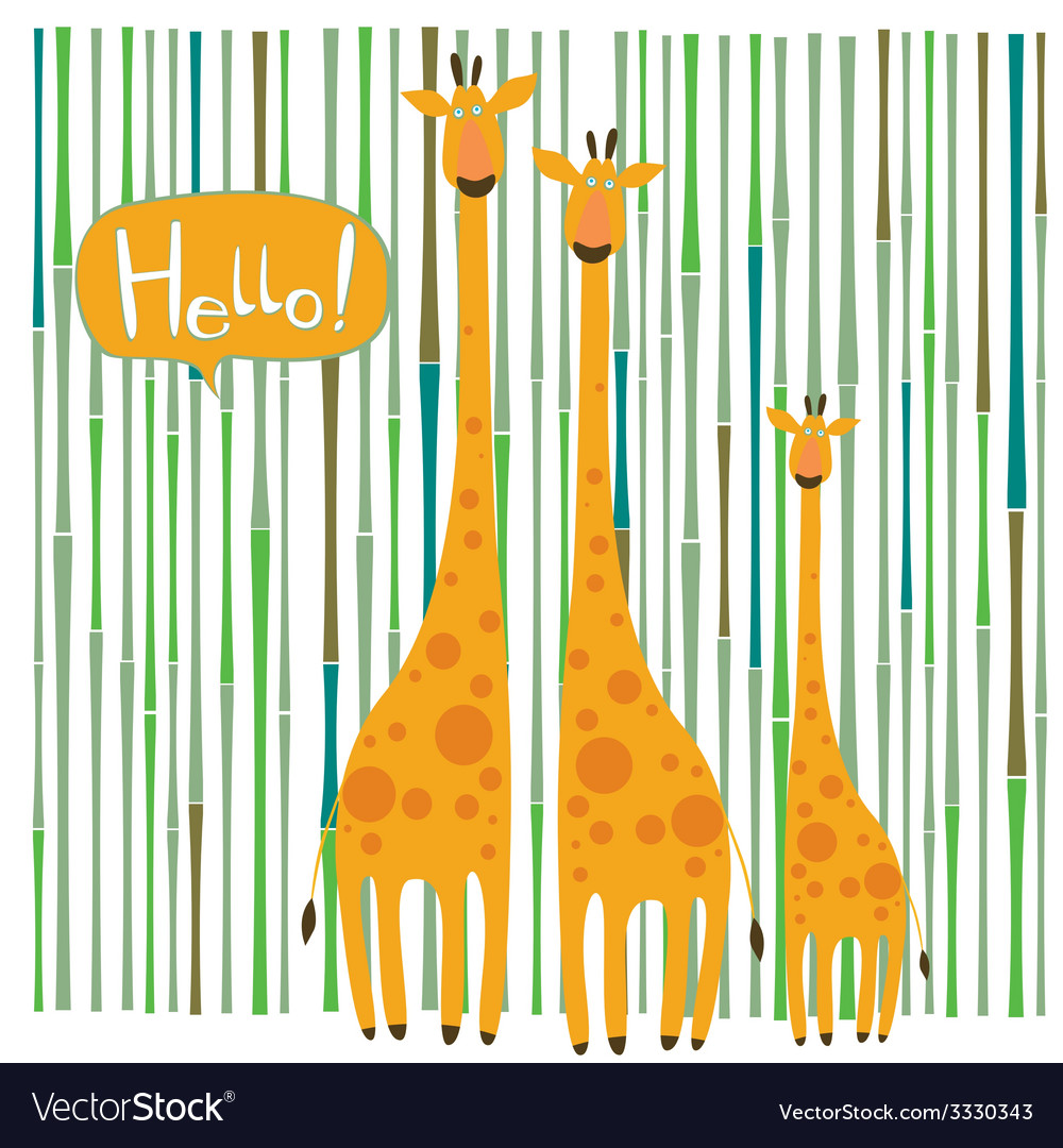 Giraffe family vector | Price: 1 Credit (USD $1)