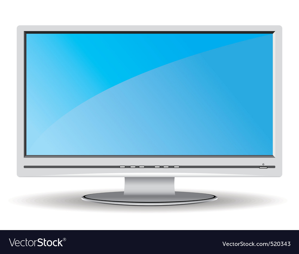 Gray lcd monitor vector | Price: 1 Credit (USD $1)