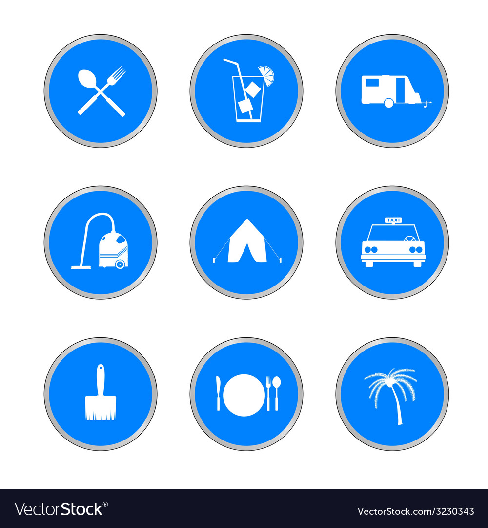 Icon in blue circle vector | Price: 1 Credit (USD $1)