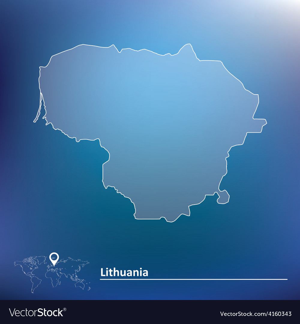 Map of lithuania vector | Price: 1 Credit (USD $1)