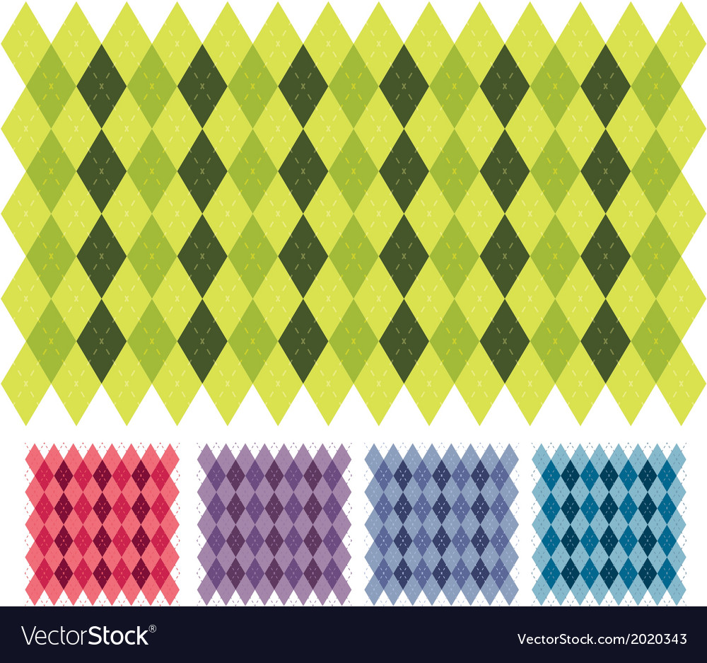 Plaid backgrounds vector