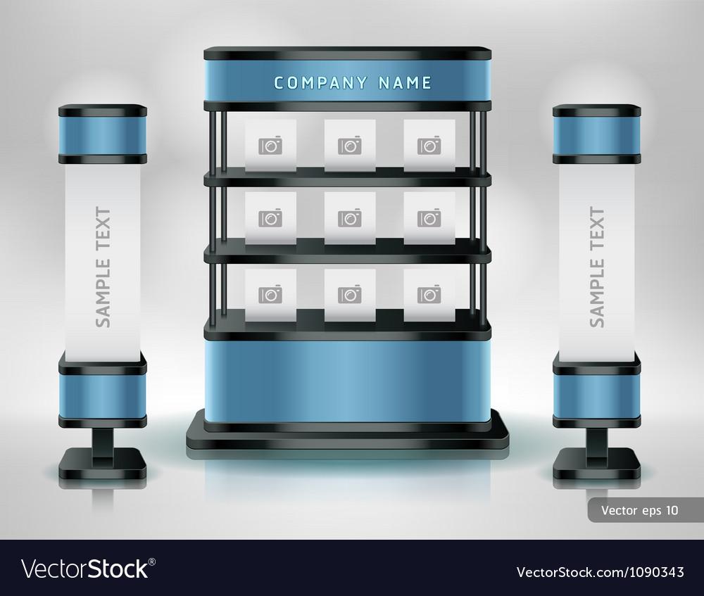 Trade exhibition stand display vector | Price: 1 Credit (USD $1)