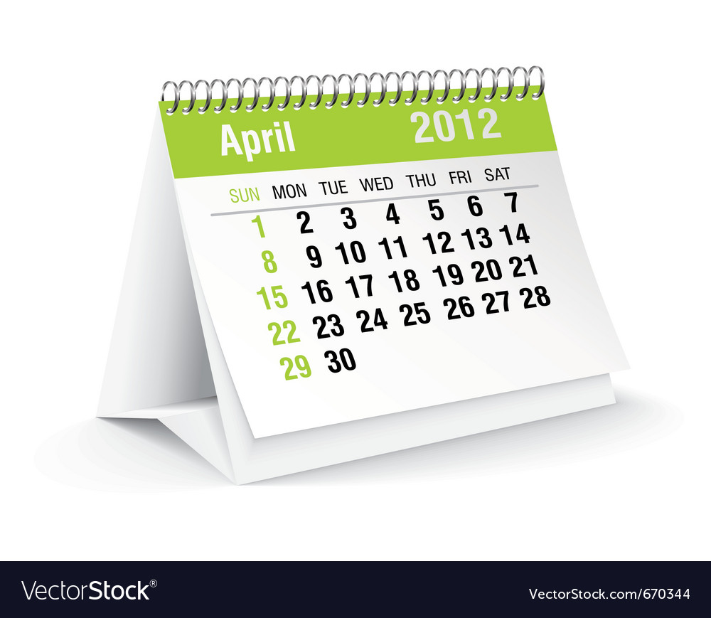 April calendar vector | Price: 1 Credit (USD $1)