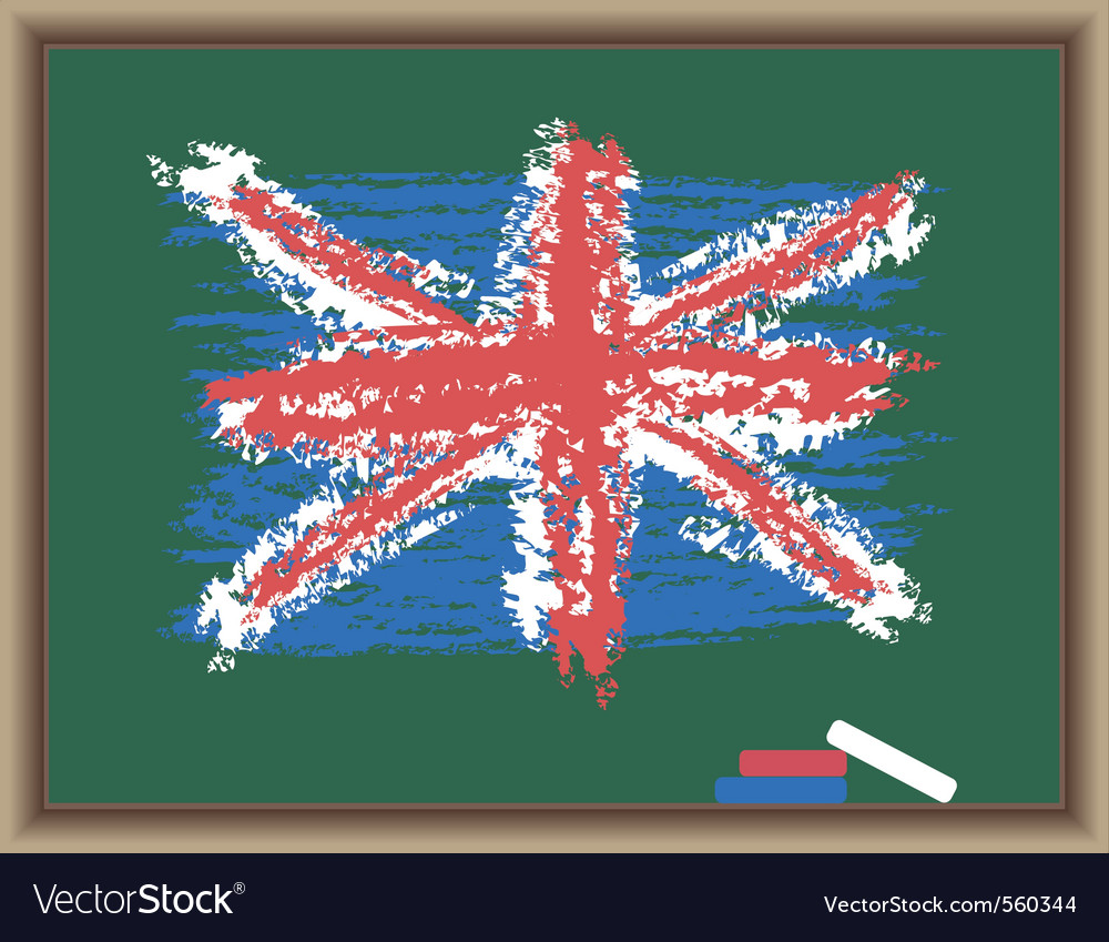 Chalk flag of england vector | Price: 1 Credit (USD $1)