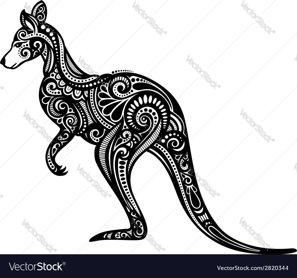 Decorative kangaroo vector | Price: 1 Credit (USD $1)
