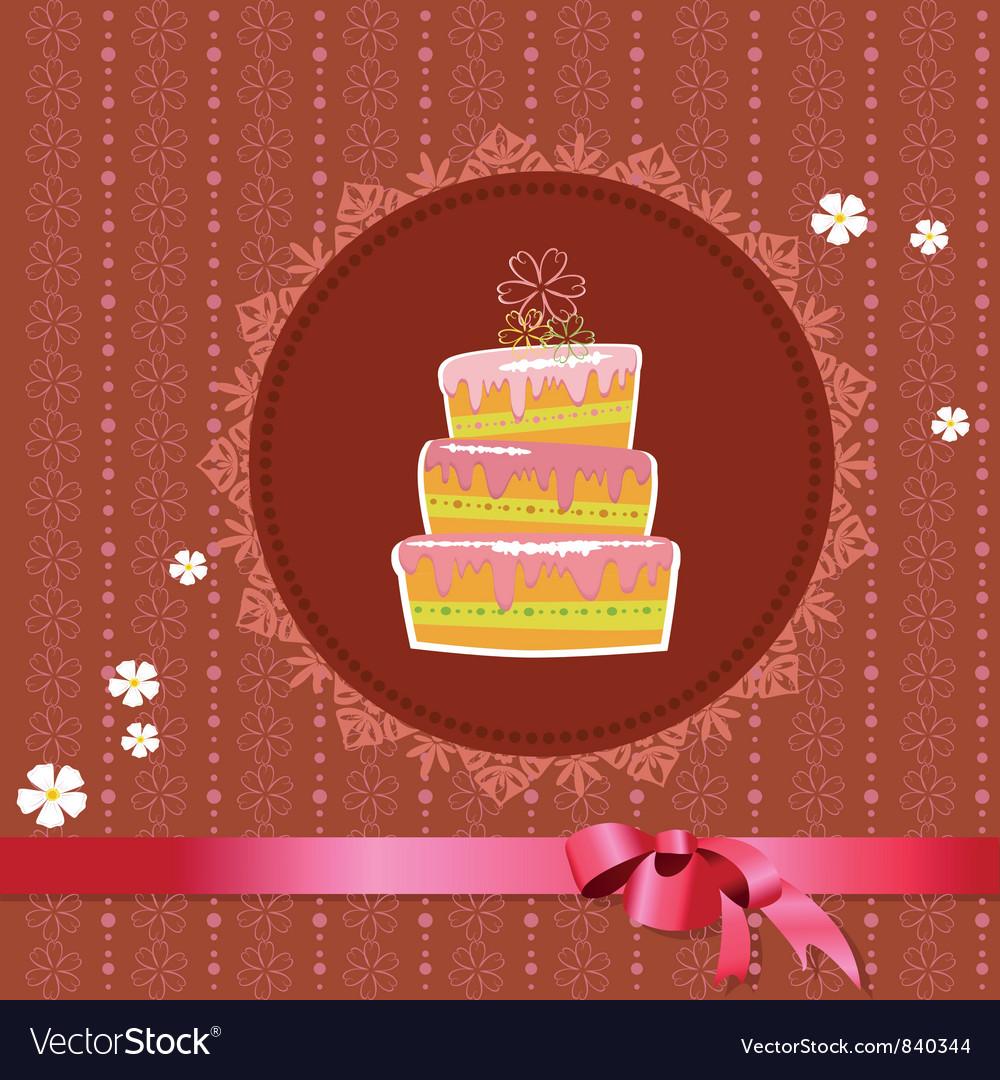 Designer frame cake vector | Price: 1 Credit (USD $1)