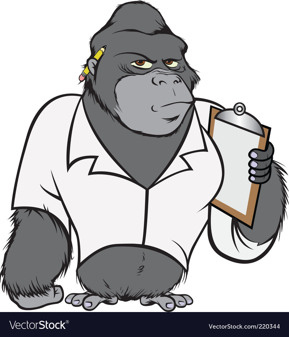 Gorilla lab suit vector | Price: 3 Credit (USD $3)