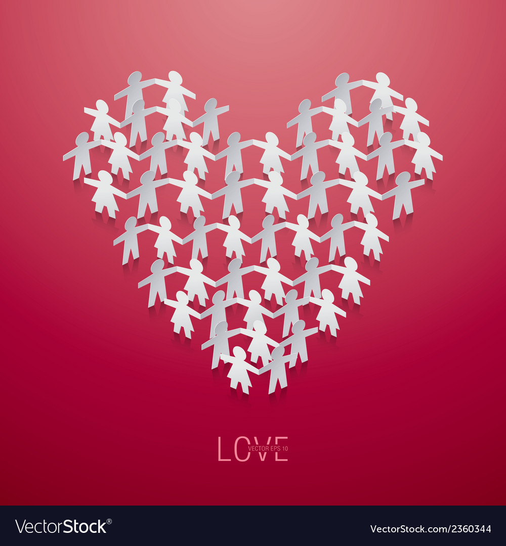 Loveheartpeoplegroup vector | Price: 1 Credit (USD $1)