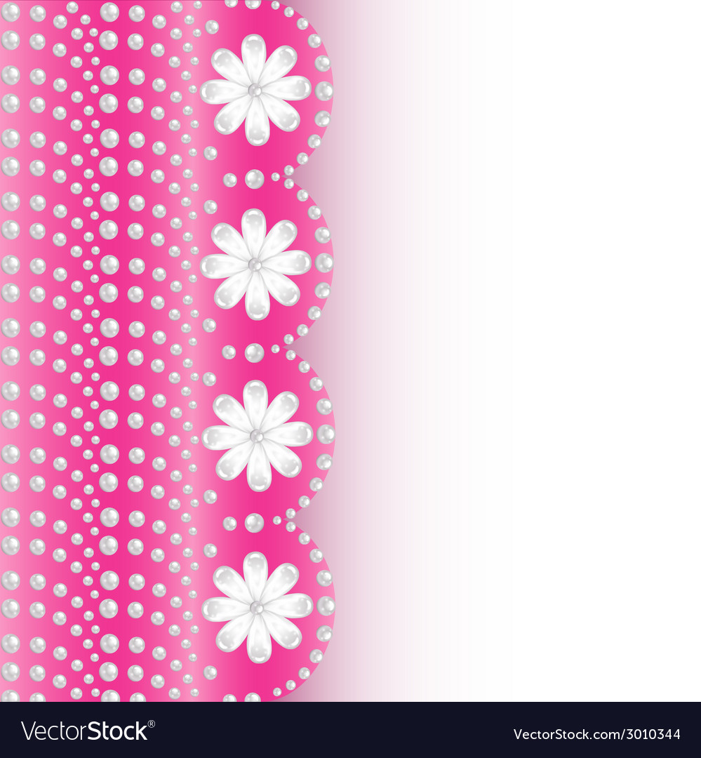 Pink background with flowers of pearls a vector | Price: 1 Credit (USD $1)