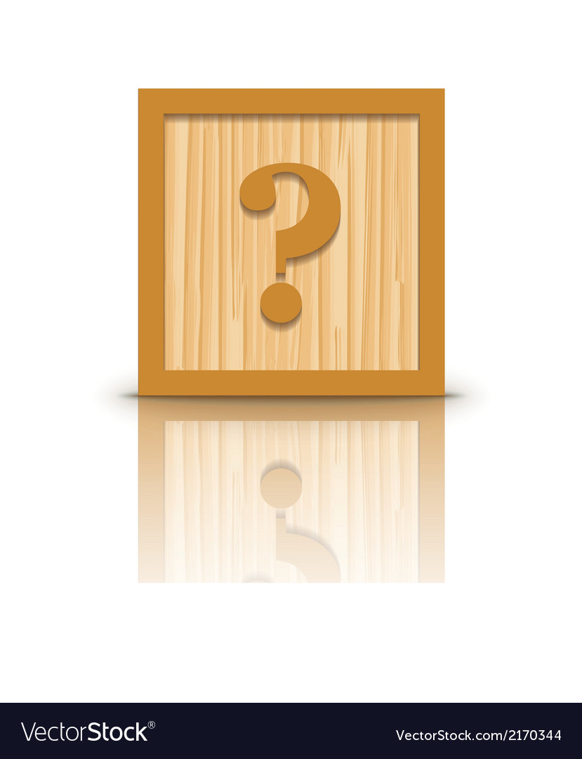 Question mark wooden alphabet block vector | Price: 1 Credit (USD $1)