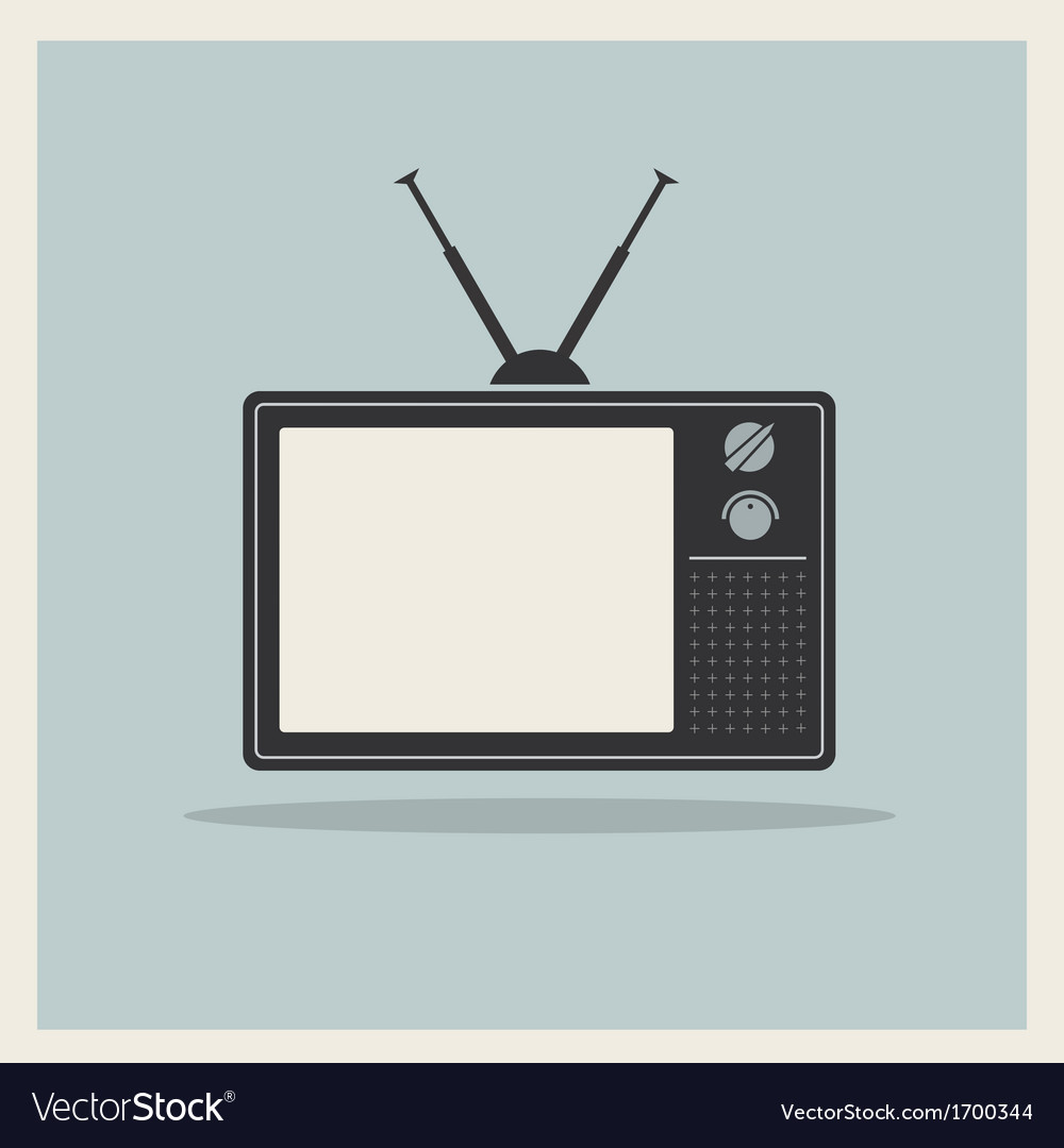 Retro background crt tv set vintage vector | Price: 1 Credit (USD $1)