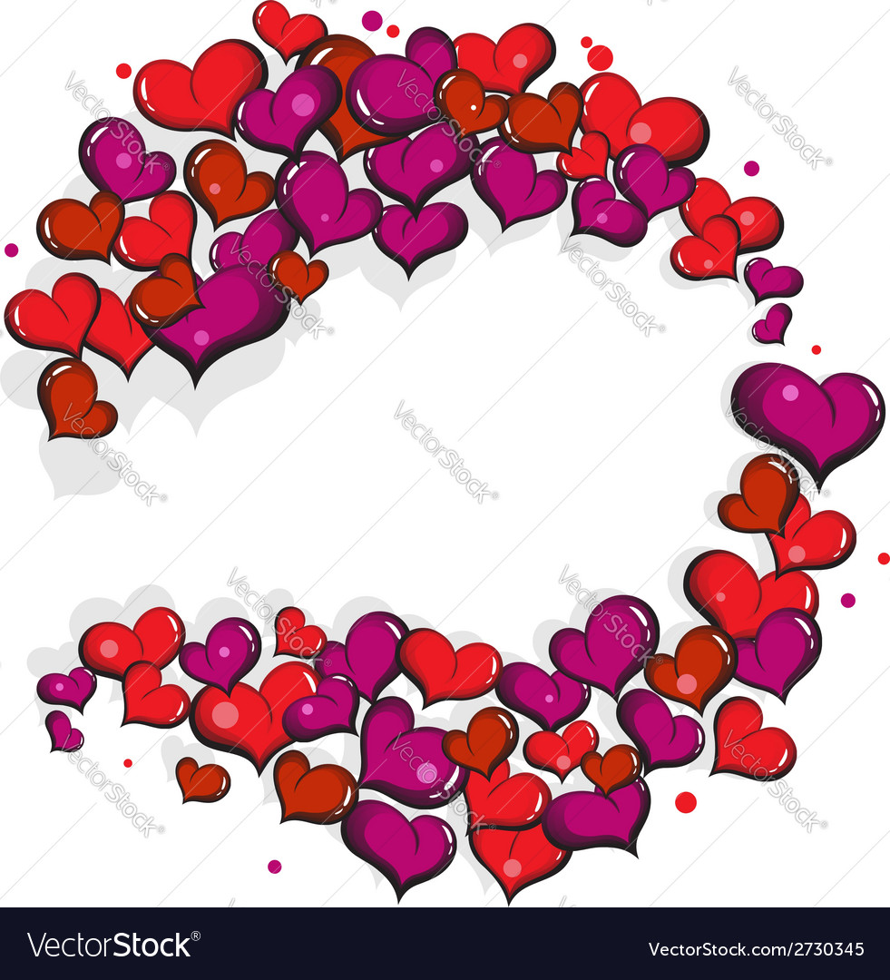 Abstract hand drawn hearts vector | Price: 1 Credit (USD $1)