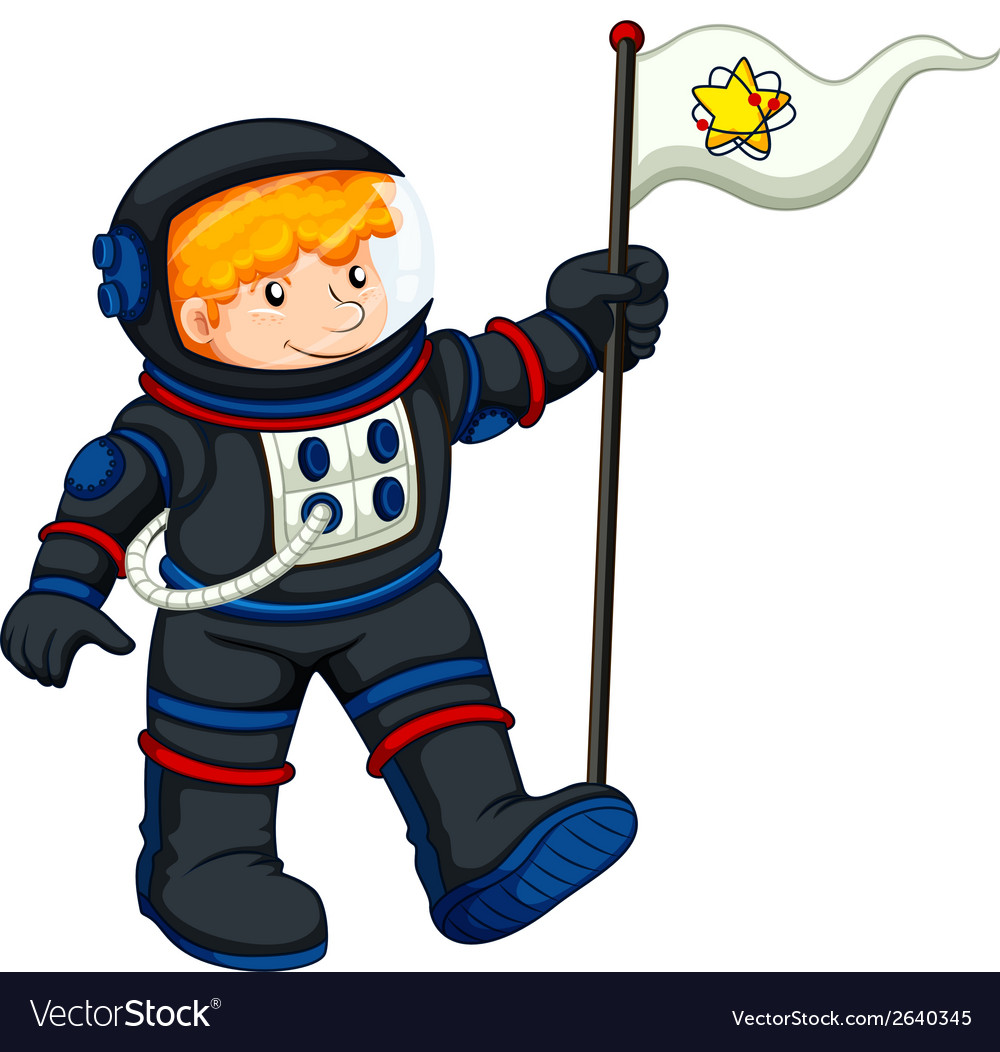 An astronaut with a banner vector | Price: 1 Credit (USD $1)