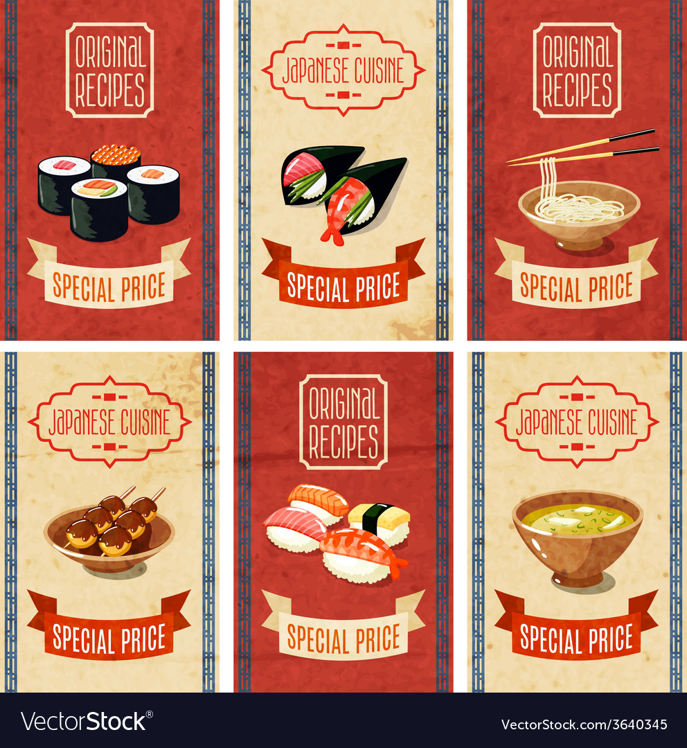 Asian food banners vector | Price: 1 Credit (USD $1)
