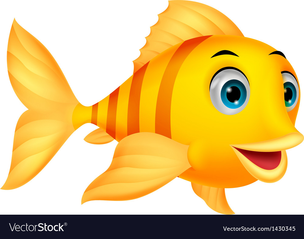 Cute fish cartoon vector | Price: 1 Credit (USD $1)