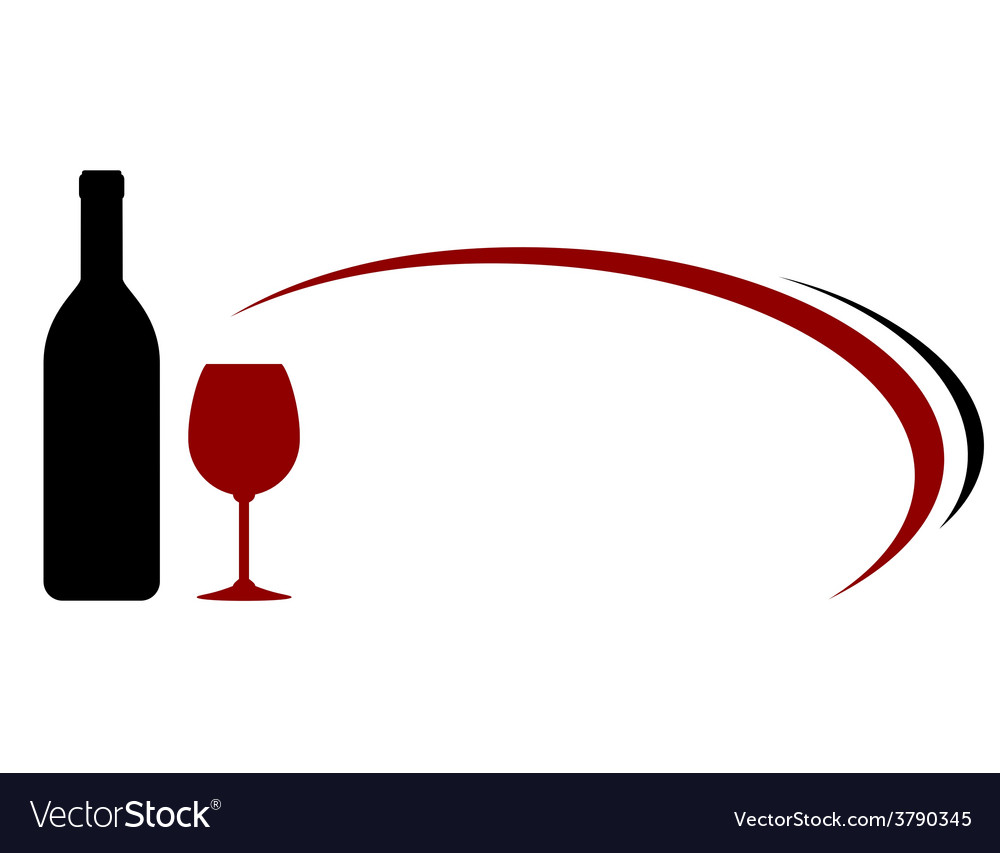Decorative background with wine bottle and glass vector | Price: 1 Credit (USD $1)