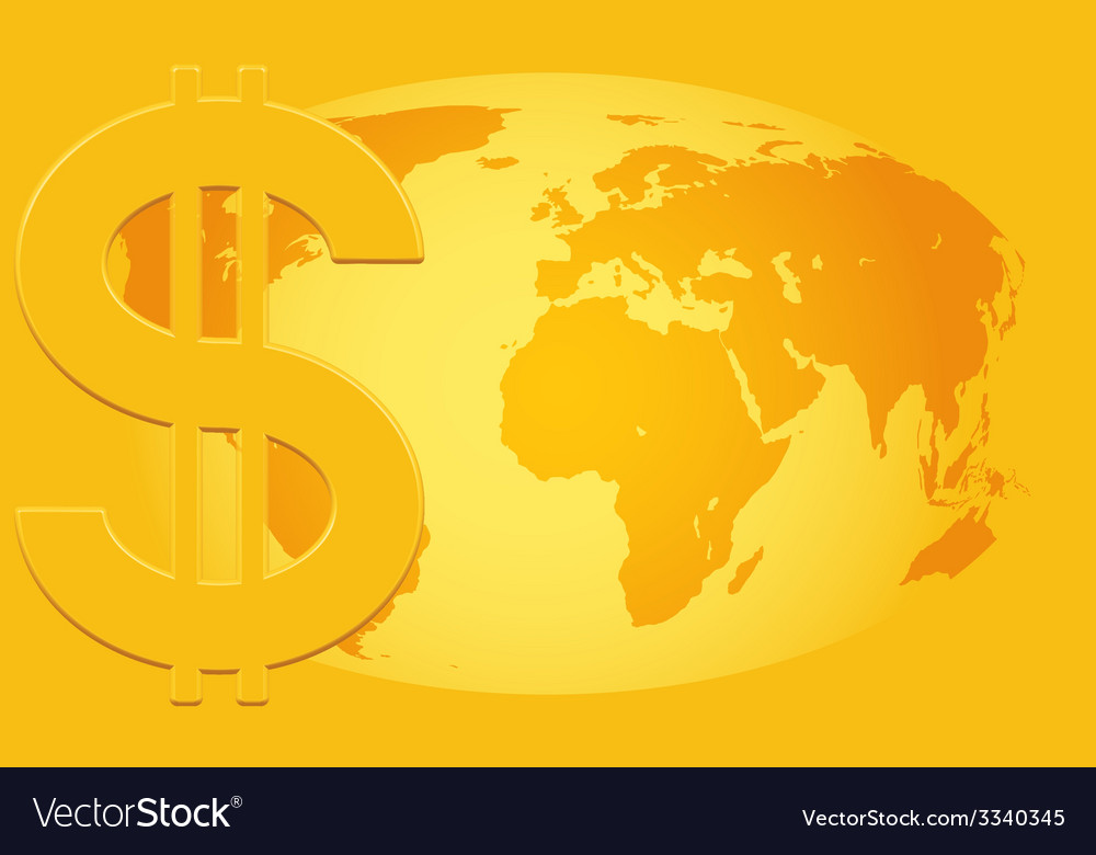 Dollar and globe vector | Price: 1 Credit (USD $1)