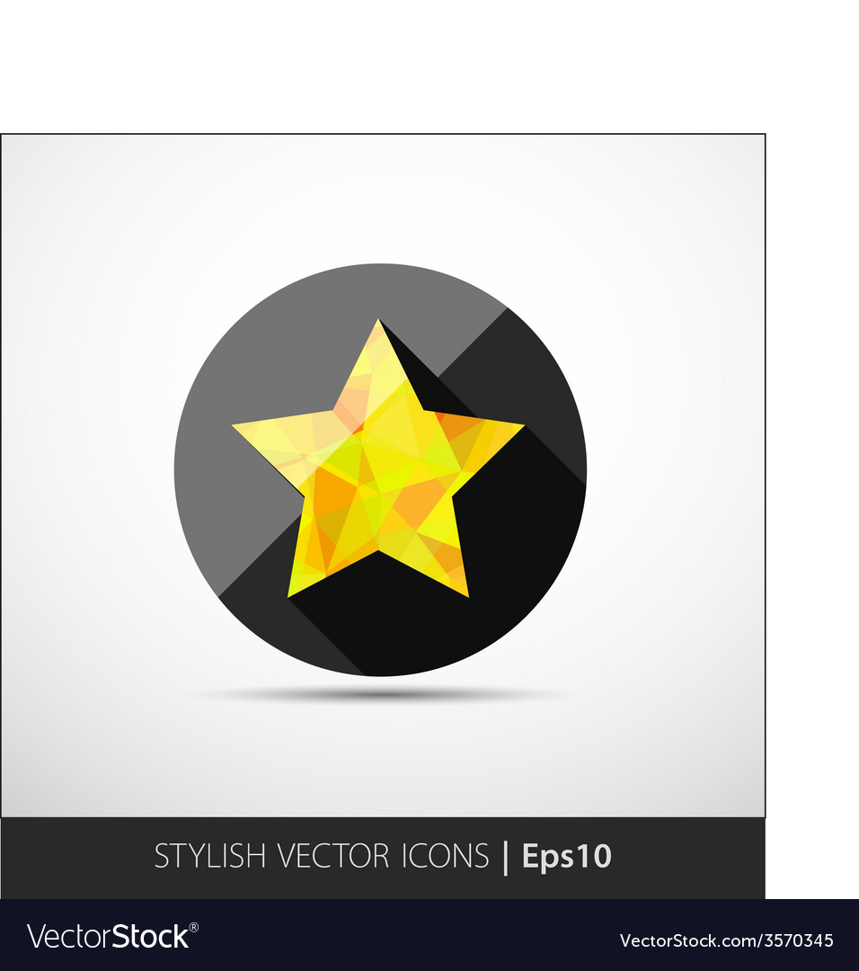 Flat polygonal star icon vector | Price: 1 Credit (USD $1)