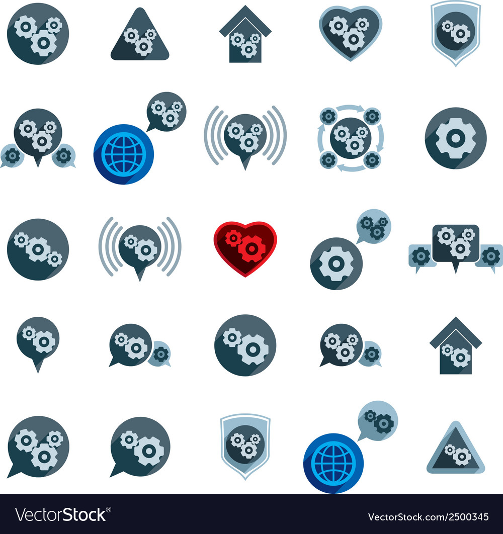 Gear system power development and progress theme vector | Price: 1 Credit (USD $1)