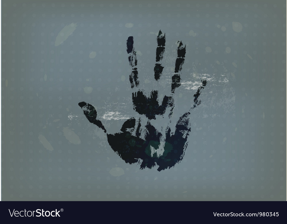 Hand print with vintage background vector | Price: 1 Credit (USD $1)
