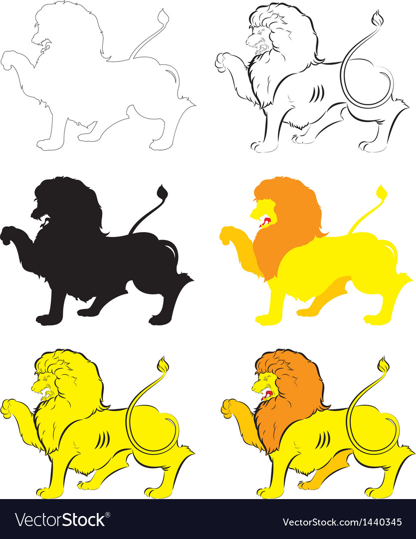 Heraldic lion passant vector | Price: 1 Credit (USD $1)