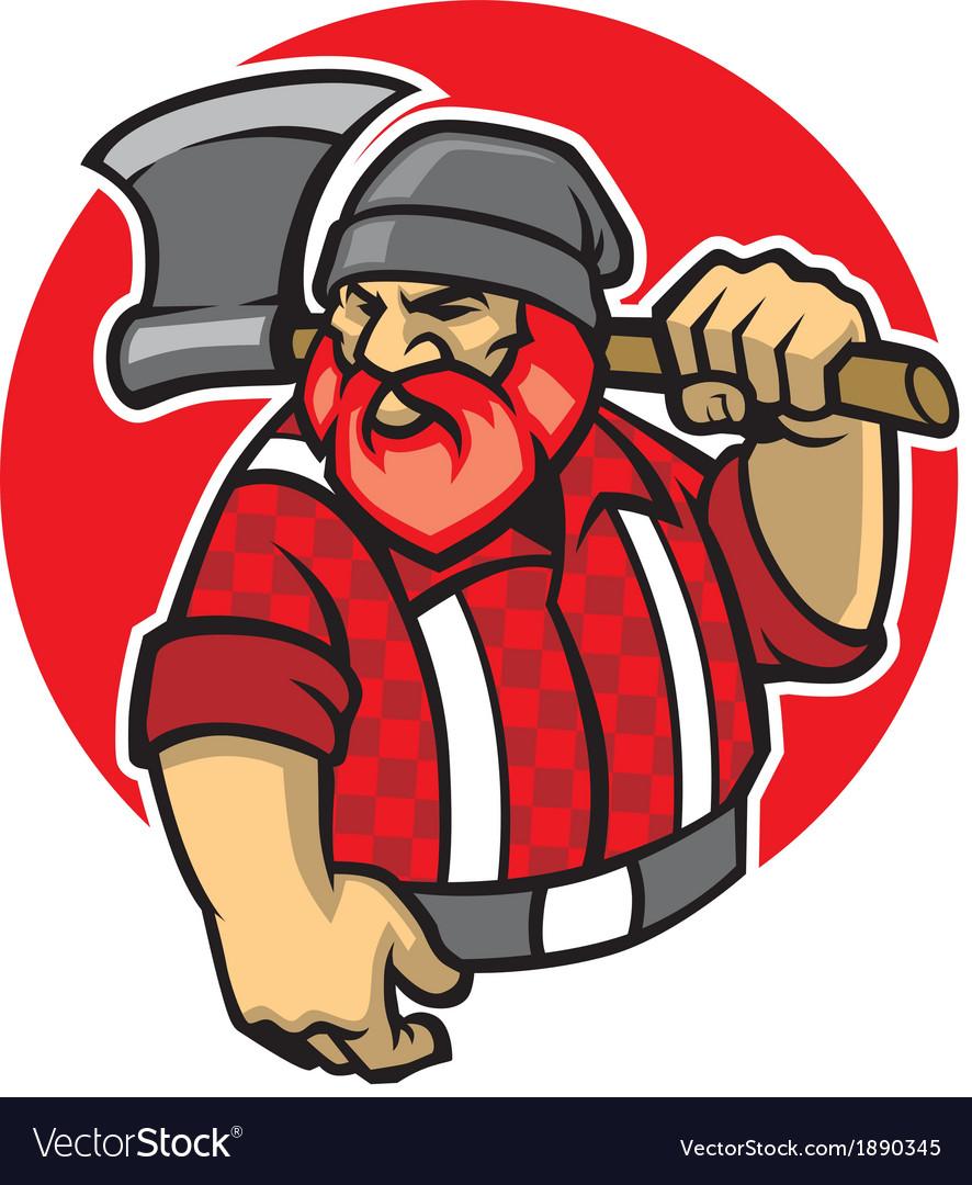Lumberjack mascot vector | Price: 3 Credit (USD $3)