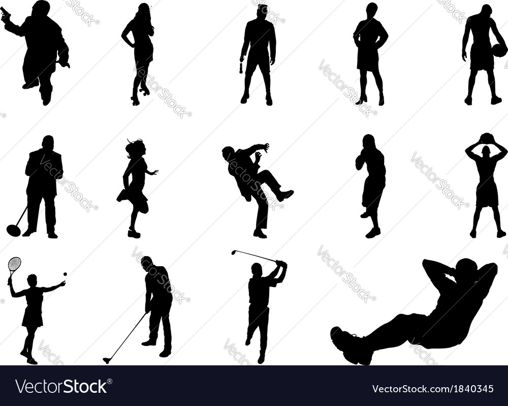 People silhouette vector | Price: 1 Credit (USD $1)