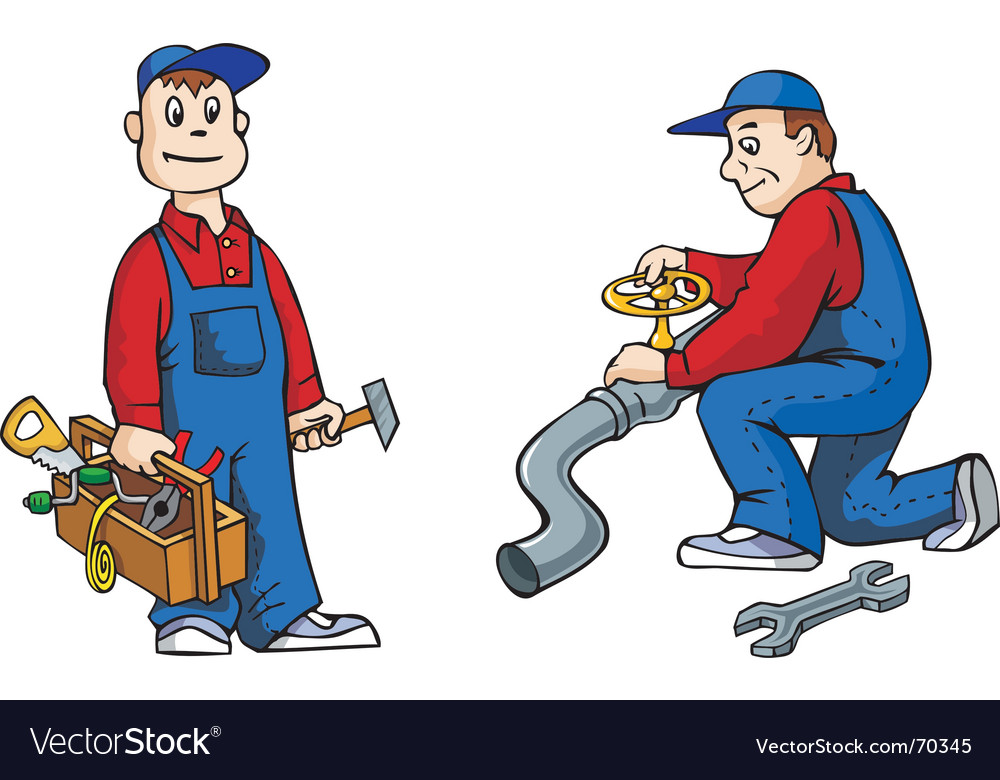 Plumber with tools vector | Price: 1 Credit (USD $1)