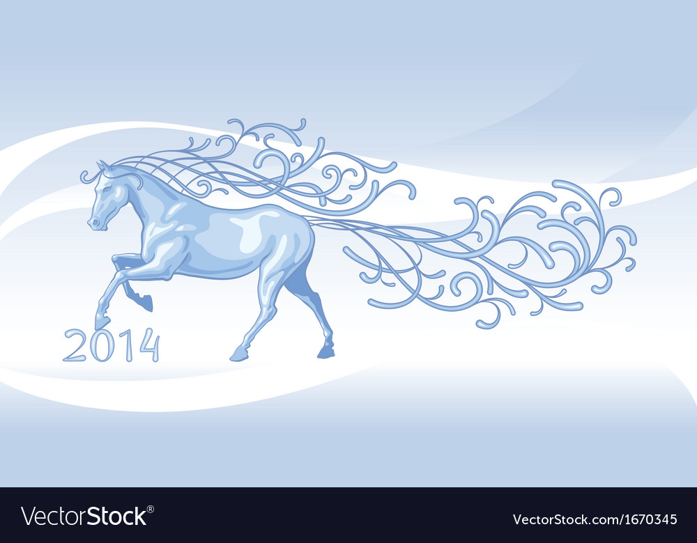 Running horse 2014 vector | Price: 1 Credit (USD $1)