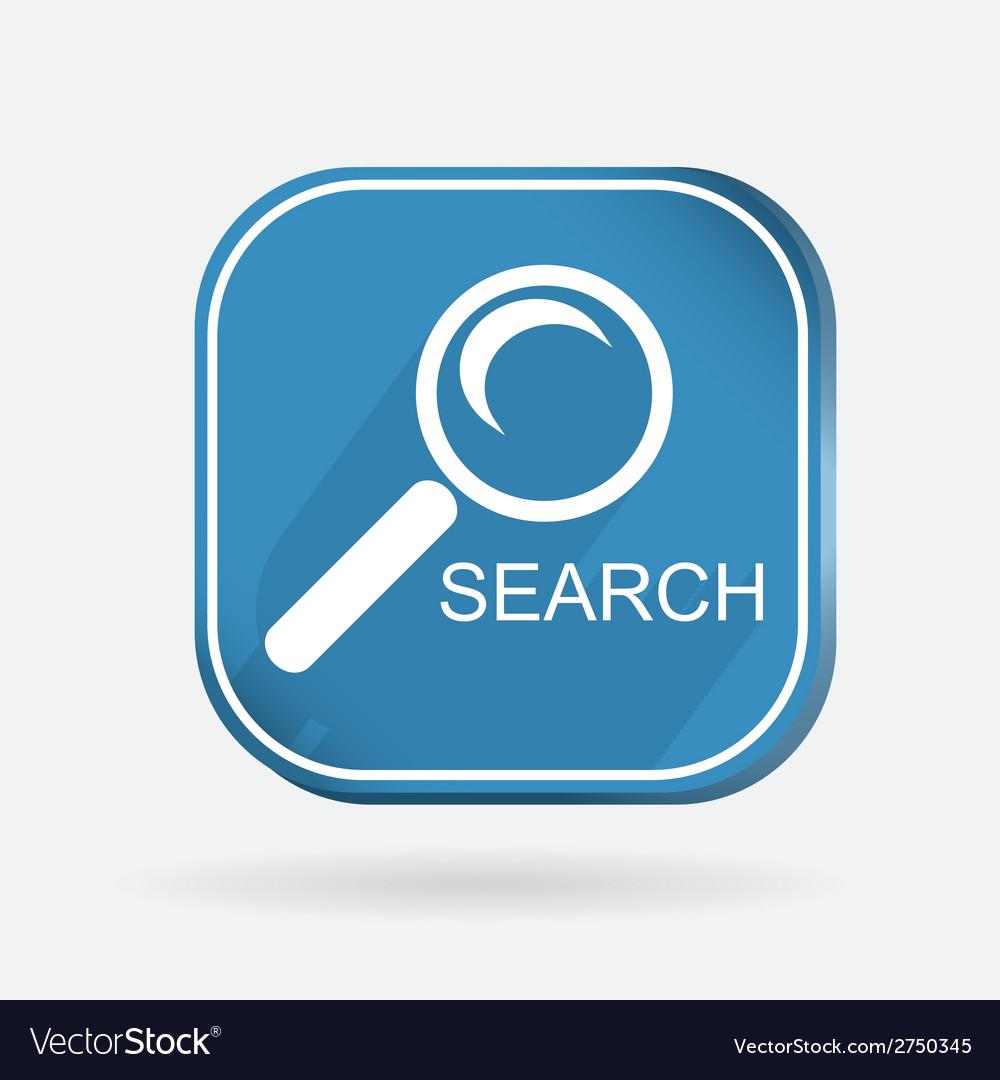 Square icon magnifier search vector | Price: 1 Credit (USD $1)