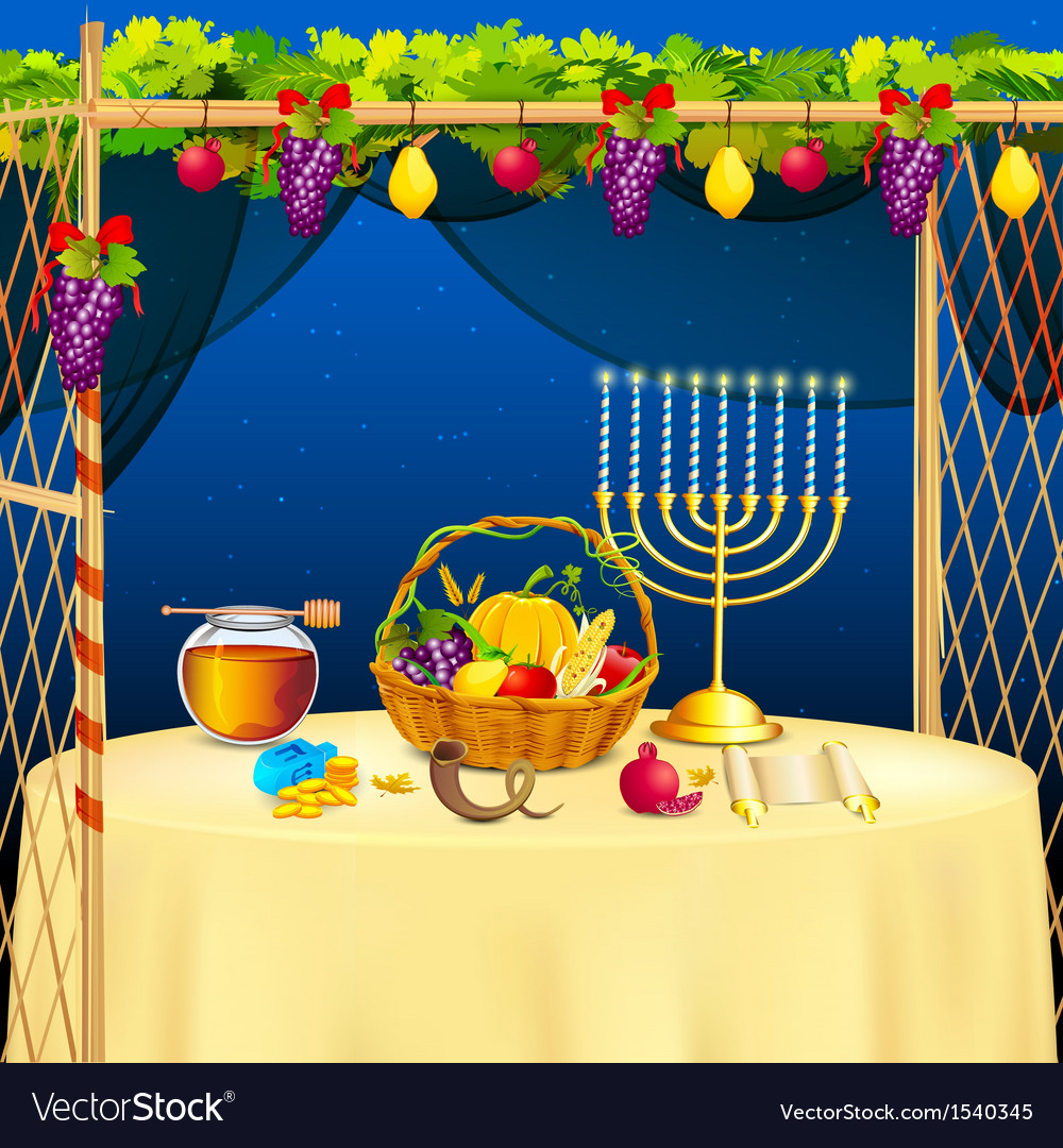 Sukkah for celebrating sukkot vector | Price: 3 Credit (USD $3)