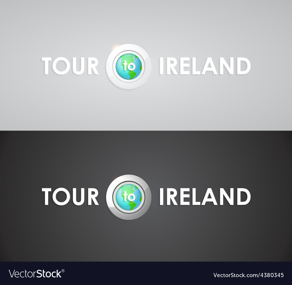 Tour to ireland vector | Price: 1 Credit (USD $1)