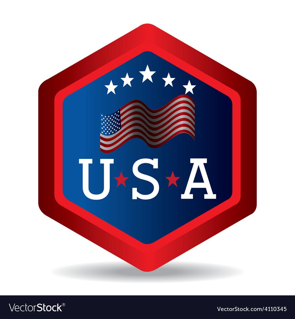 Usa design vector   Price: 1 Credit (USD $1)