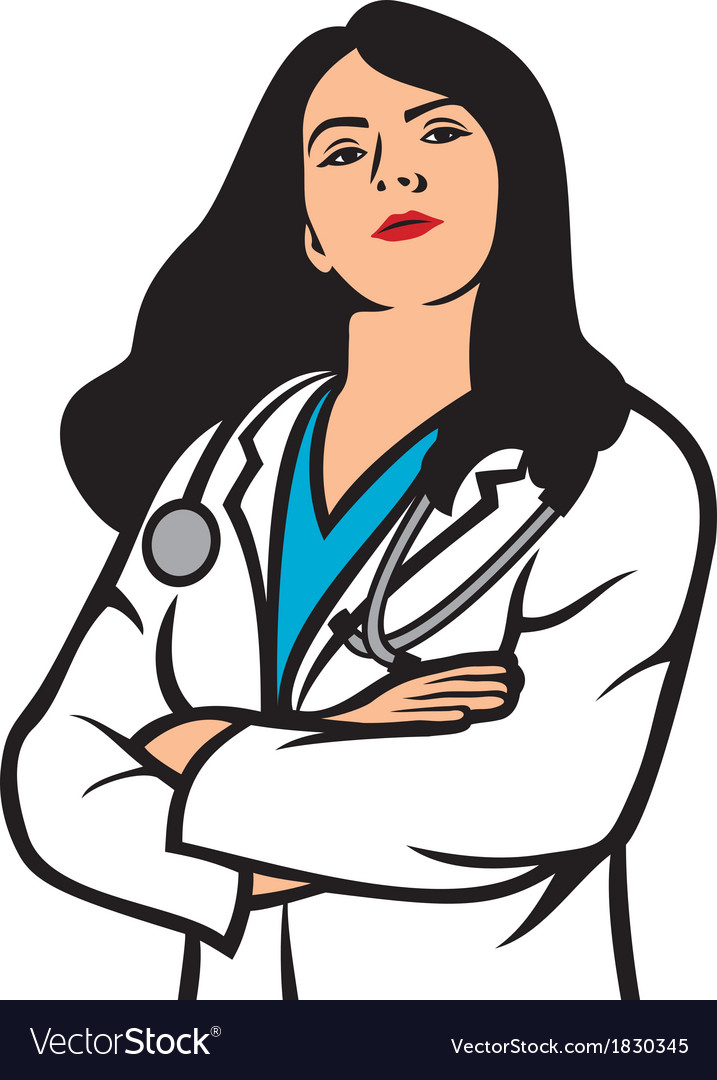 Woman doctor vector | Price: 1 Credit (USD $1)