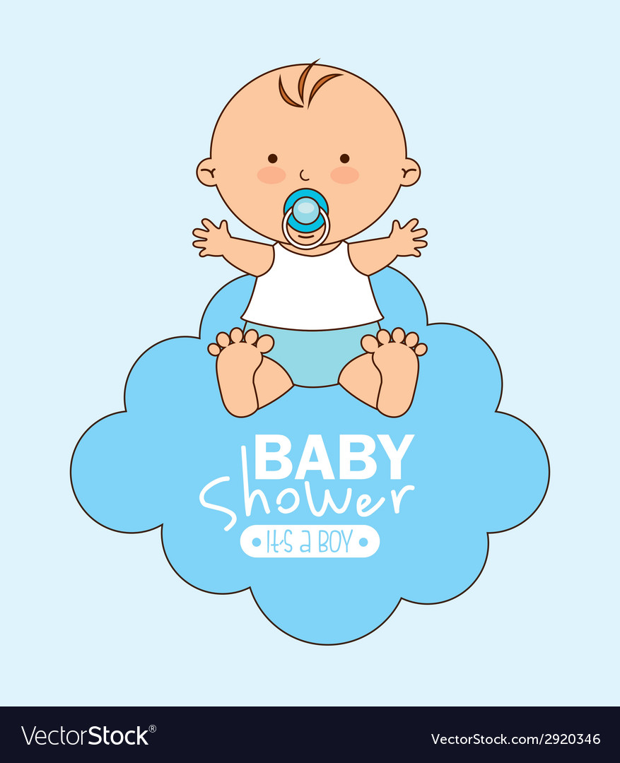 Baby shower design vector | Price: 1 Credit (USD $1)